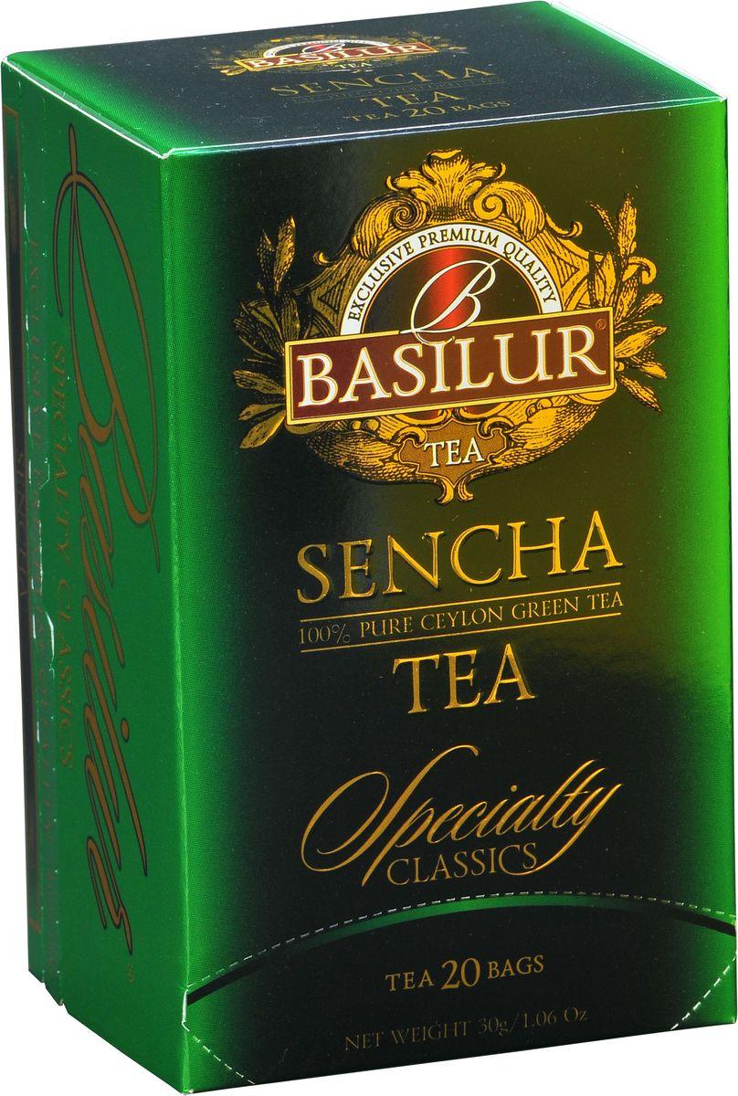 Basilur Sencha зеленый чай в пакетиках, 20 шт чайники и кофейники на кухню basilur