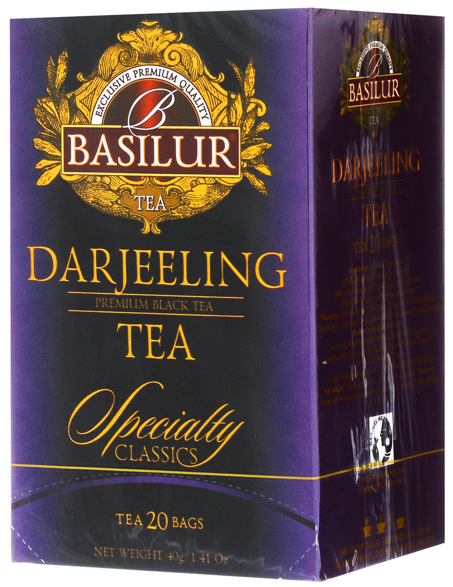 Basilur Darjeeling черный чай в пакетиках, 20 шт