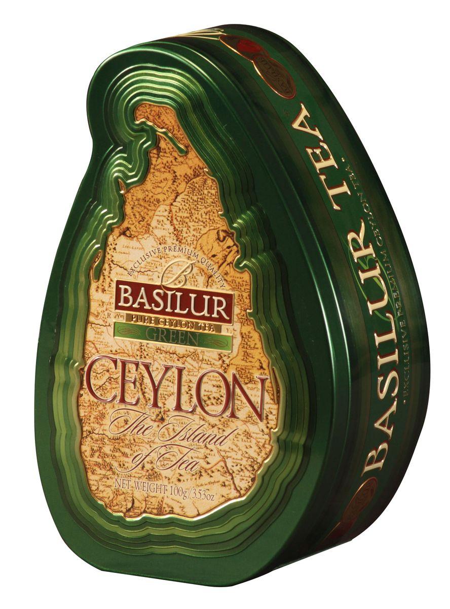 Basilur Green зеленый листовой чай, 100 г (жестяная банка) basilur moroccan mint зеленый листовой чай 100 г жестяная банка