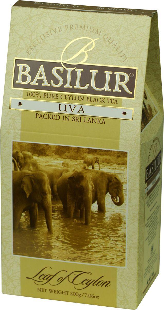 Basilur Uva OP черный листовой чай, 200 г greenfield чай greenfield классик брекфаст листовой черный 100г