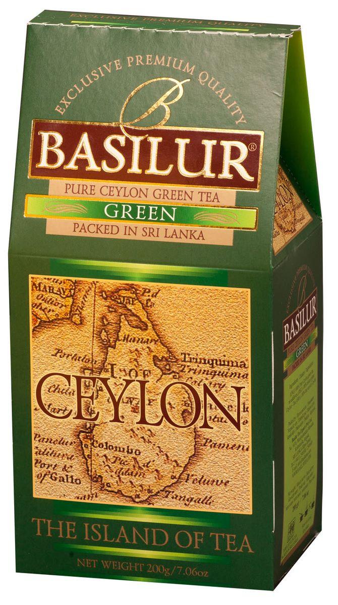 Basilur Green зеленый листовой чай, 200 г чай зеленый basilur white magic пакетированный