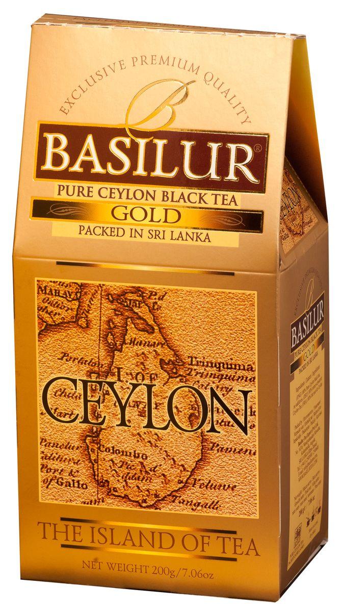 Basilur Gold черный листовой чай, 200 г дольче вита с рождеством христовым черный листовой чай 170 г