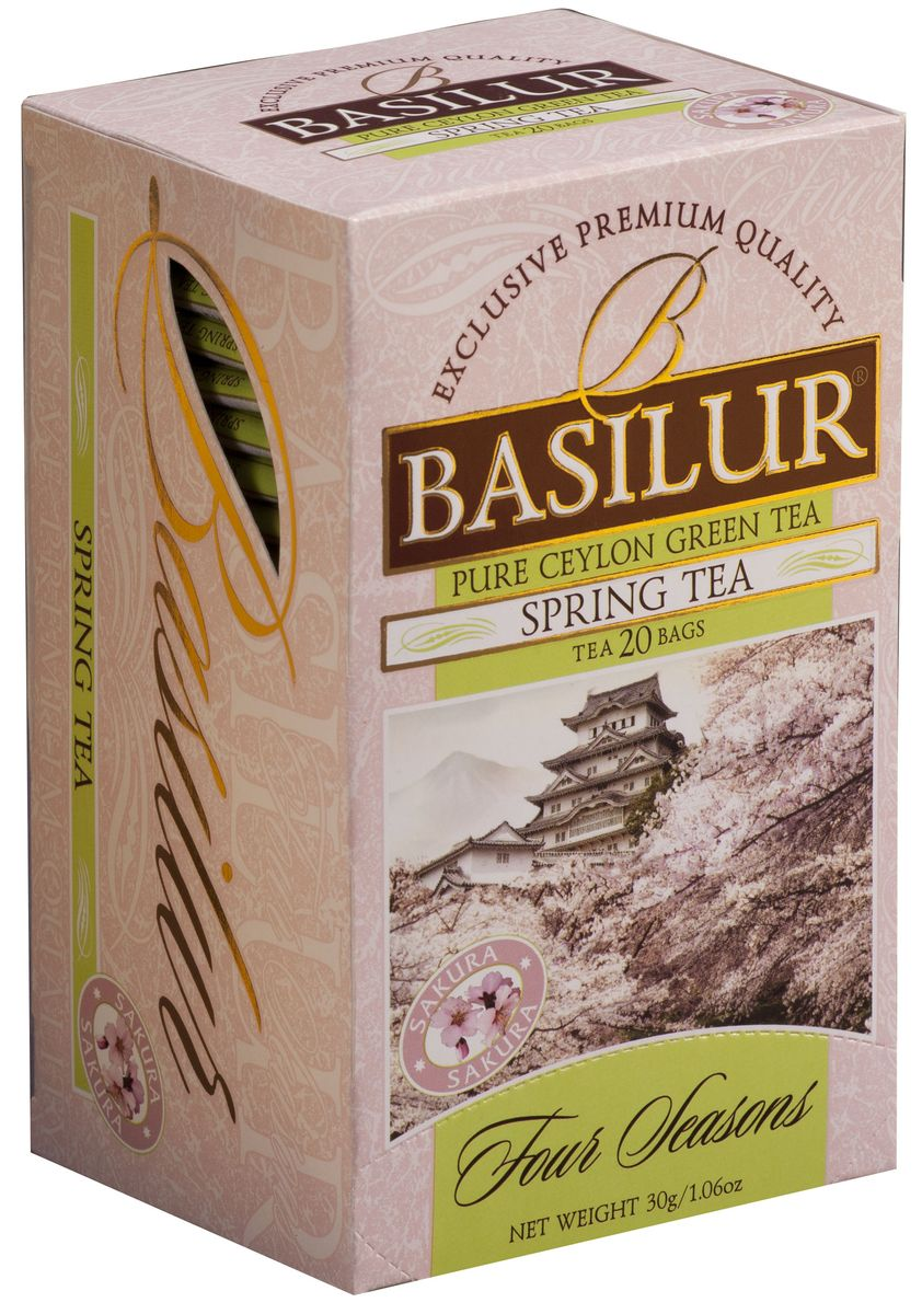 Basilur Spring Tea зеленый чай в пакетиках, 20 шт