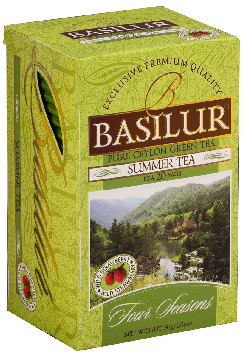Basilur Summer Tea зеленый чай в пакетиках, 20 шт basilur gold черный чай в пакетиках 25 шт