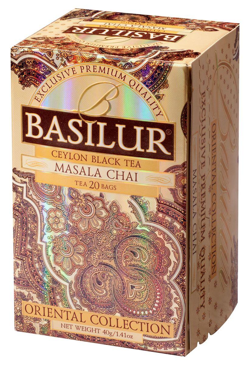 Basilur Masala Chai черный чай в пакетиках, 20 шт чайники и кофейники на кухню basilur