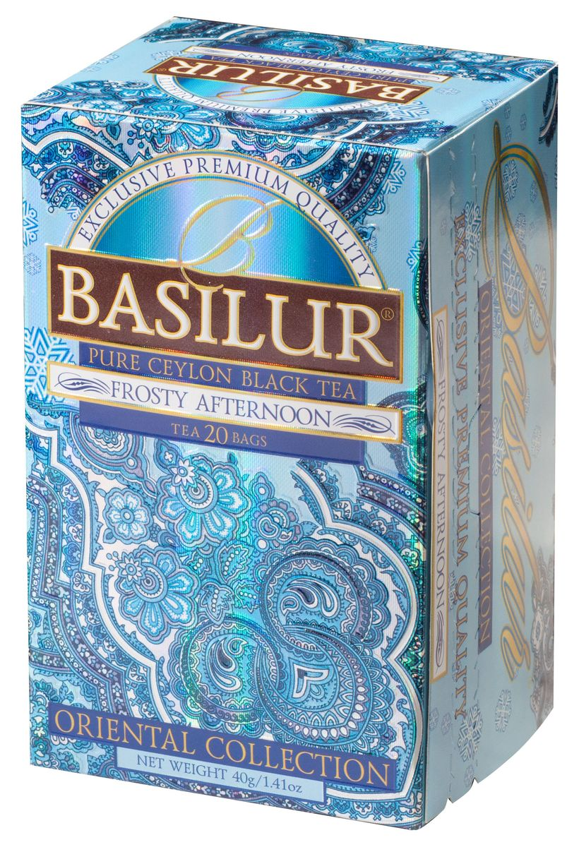 где купить Basilur Frosty Afternoon черный чай в пакетиках, 20 шт по лучшей цене