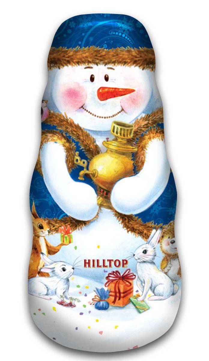 Hilltop Снеговик с самоваром черный листовой чай, 100 г4607099302037Цейлонский черный чай с насыщенным ароматом и терпким вкусом Цейлонское утро спрятан в необычной подарочной упаковке Hilltop Снеговик с самоваром. Это чай безусловно согреет вас в праздничные дни и станет великолепным подарком для друзей или близких! Шкатулка в виде снеговика легко найдет свое место под праздничной елкой.