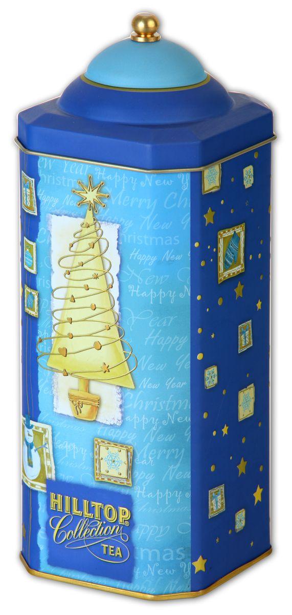 Hilltop Золотая елка Черный лист черный листовой чай, 125 г4607099302945Особо крупнолистовой цейлонский черный чай с насыщенным ароматом и терпким