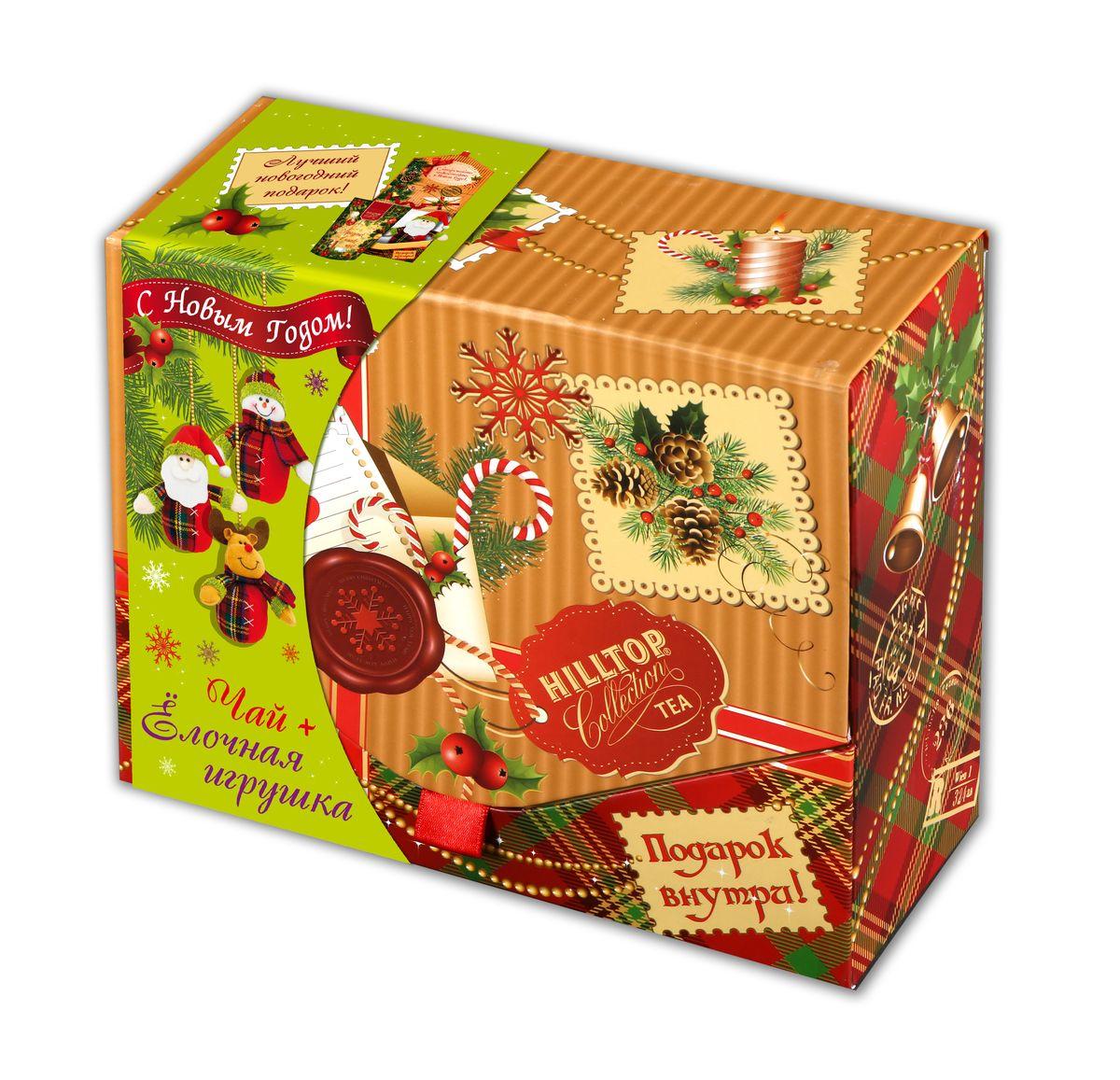 Hilltop Посылка от Деда Мороза чайный набор4607099303539Hilltop Посылка от Деда Мороза - черный байховый цейлонский чай в картонной подарочной упаковке. Внутри вы также найдете декоративную елочную игрушку. Набор может быть прекрасным подарком на новогодние праздники.