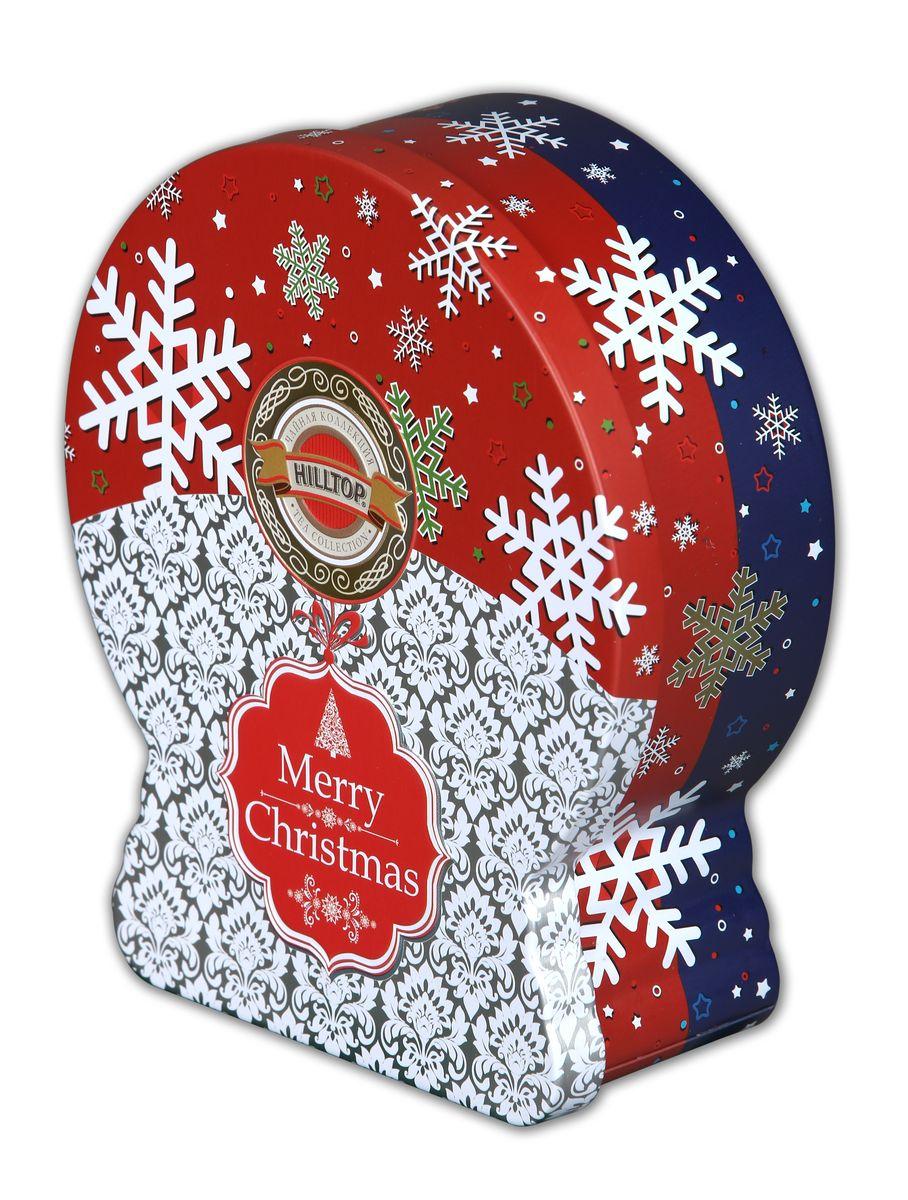 Hilltop Морозные узоры Рождественский черный листовой чай (банка-глобус), 100 г4607099303669Hilltop Морозные узоры - ароматный черный листовой чай с корицей и цедрой апельсина. Дополнен миндальным орехом, инжиром и гвоздикой. Оригинальная праздничная упаковка будет великолепно смотреться на семейном новогоднем застолье.