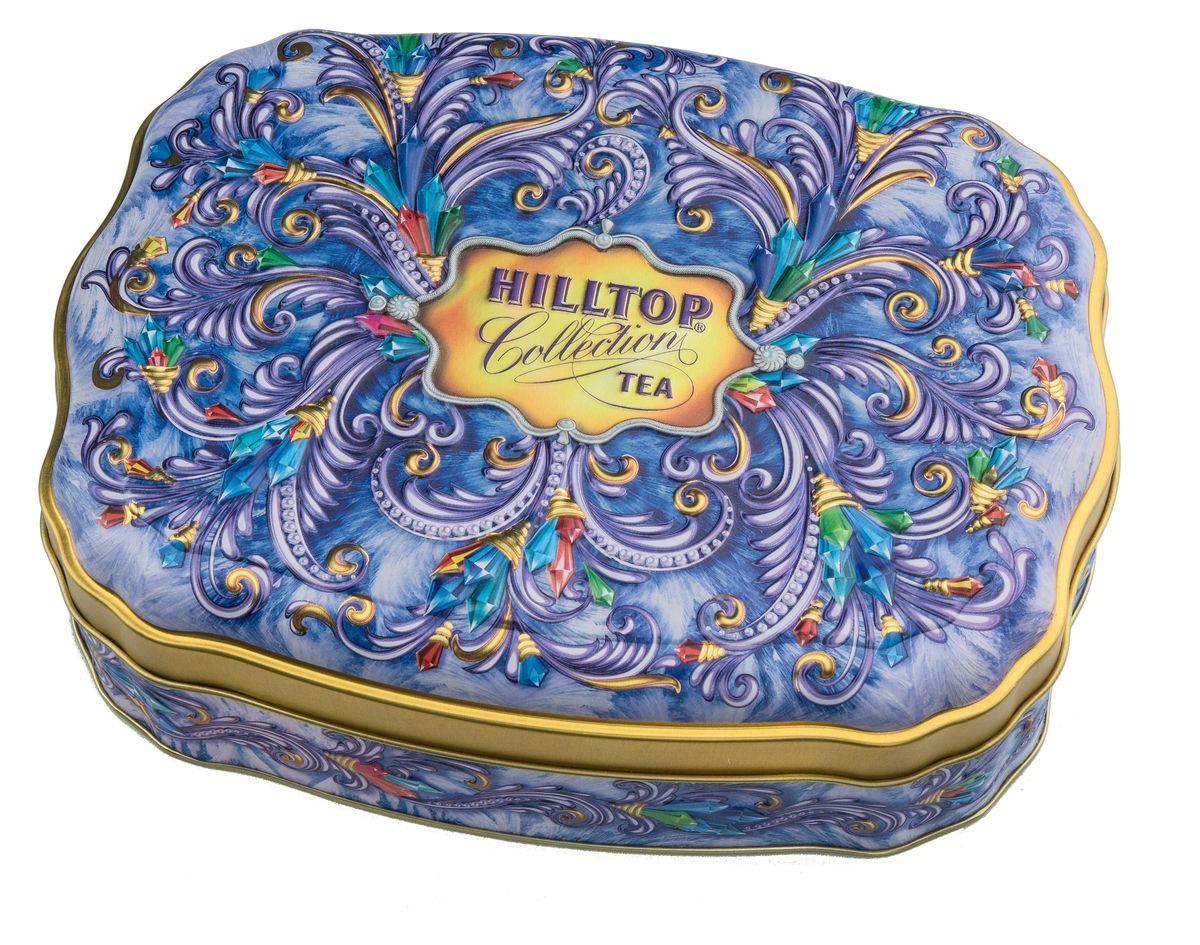 Hilltop Сверкающие самоцветы черный листовой чай, 100 г4607099304383Крупнолистовой цейлонский черный чай Hilltop Сверкающие самоцветыс листьями и тонизирующим ароматом чабреца станет прекрасным дополнением к любому застолью, а также превосходно тонизирует и освежает в любое время дня. Яркая упаковка позволит вам преподнести его как подарок для друзей и родных к новогодним праздникам.