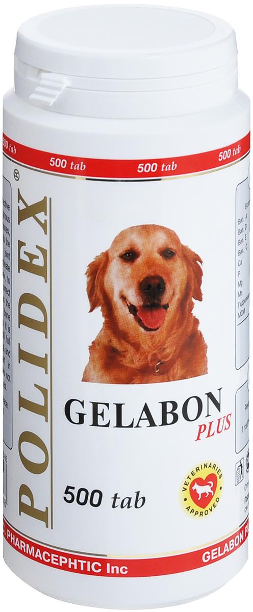 Витамины для собак Polidex  Gelabon Plus , 500 шт - Ветеринарная аптека
