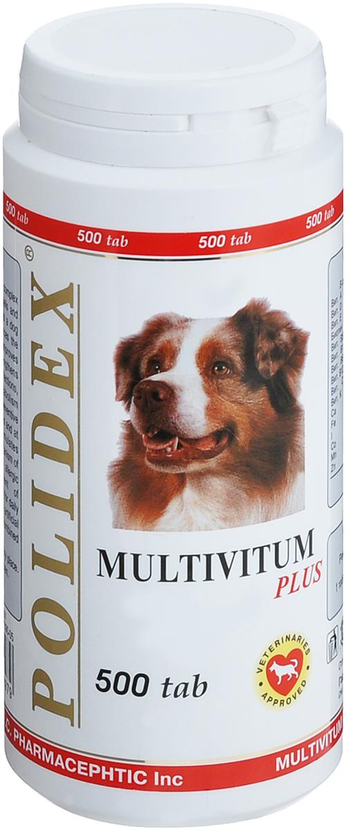 Витамины для собак Polidex  Multivitum plus , 500 шт - Ветеринарная аптека
