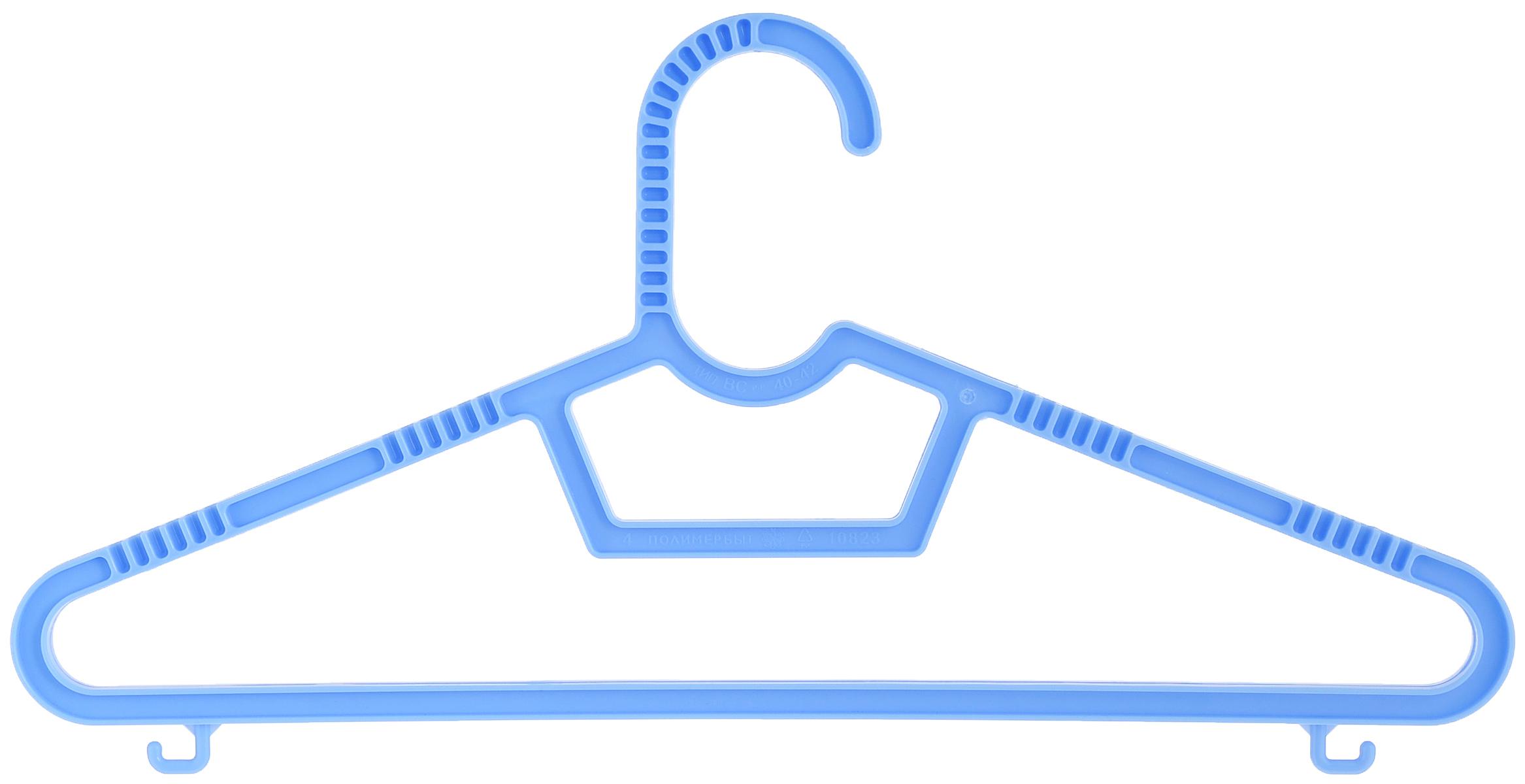 Набор детских вешалок Полимербыт, цвет: голубой, размер 40-42, 3 штПБ 236_голубойНабор Полимербыт состоит из трех детских вешалок для одежды, выполненных из пластика. У вешалок есть перекладина и два небольших крючка по бокам. Плечики вешалки подойдут для одежды размера 40-42.Вешалка - это незаменимая вещь для того, чтобы ваша одежда всегда оставалась в хорошем состоянии.