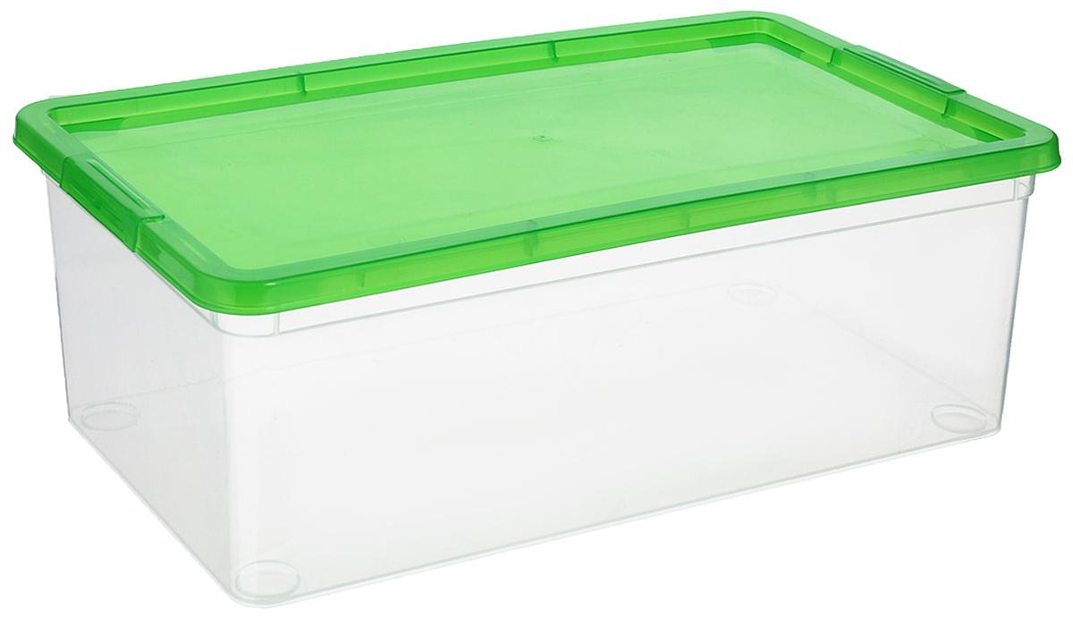 Коробка для мелочей Полимербыт, цвет: прозрачный, зеленый, 5,5 лС511_зеленыйКоробка Полимербыт выполнена из высококачественного цветного пластика и предназначена для хранения различных мелочей. Контейнер плотно закрывается крышкой. Коробка Полимербыт очень вместительна и поможет вам хранить все необходимые вещи в одном месте.Объем коробки: 5,5 л.