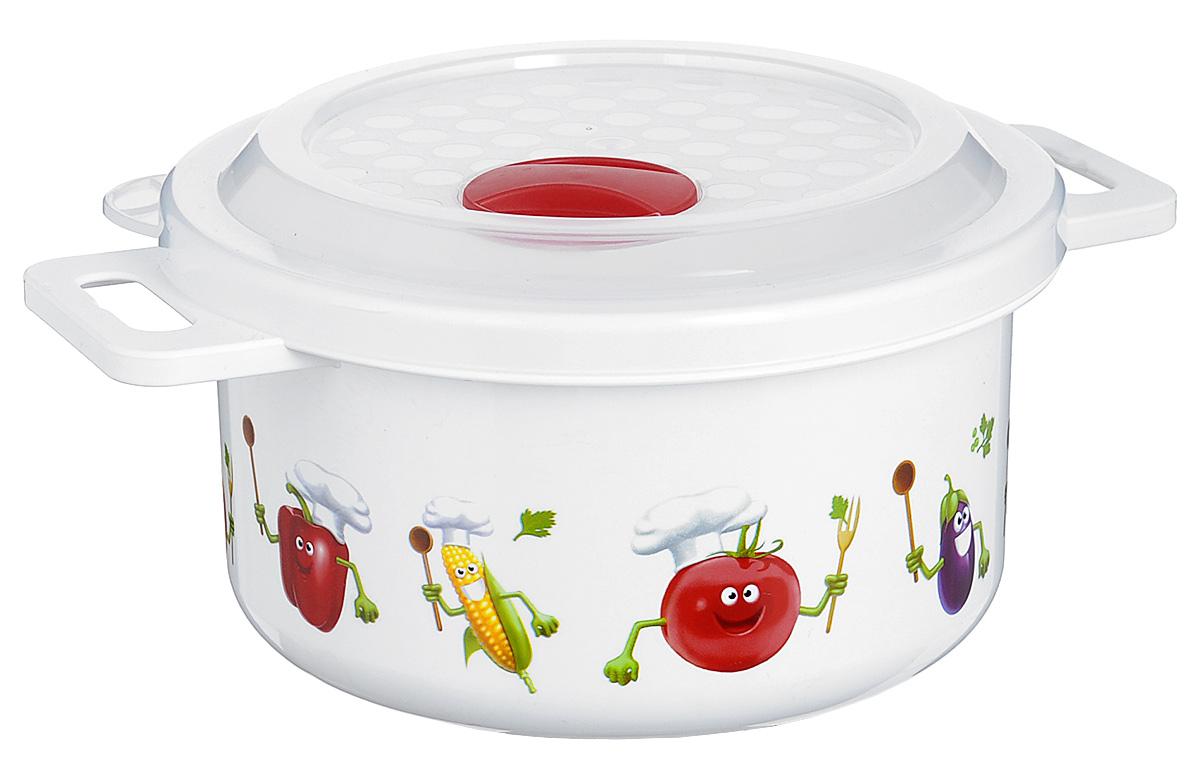 Емкость для заморозки и СВЧ Phibo, цвет: белый, красный, 0,9 лС11727_красныйЕмкость Phibo изготовлена из высококачественного пластика и не содержит Бисфенол А. Крышка легко и плотно закрывается, а также оснащена регулируемым клапаном для выпуска пара. Емкость украшена яркими изображениями овощей. Она устойчива к воздействию масел и жиров, легко моется.Подходит для использования в микроволновых печах при температуре до +100°С, выдерживает хранение в морозильной камере при температуре -24°С, его можно мыть в посудомоечной машине при температуре до +95°С.Объем контейнера: 0,9 л.Диаметр: 14,5 см. Высота: 7,5 см.