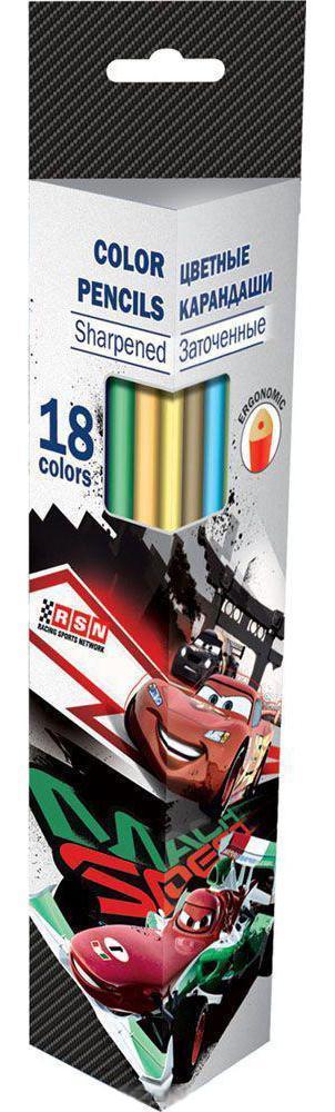 Набор карандашей Kinderline International Ltd. Cars CRAB-US1-3P-18CRAB-US1-3P-18 Канцелярский набор Cars станет незаменимым атрибутом в учебе любого школьника. Цвет: серый.Материал: Дерево, .Поверхность: Бумага.Упаковка: Коробка картонная.