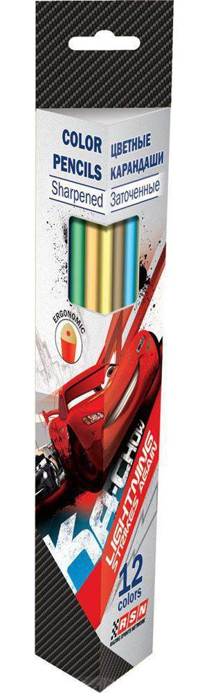 Набор карандашей Kinderline International Ltd. Cars CRAB-US1-3P-12 сумка kinderline international mhbz us1 51box5 v3