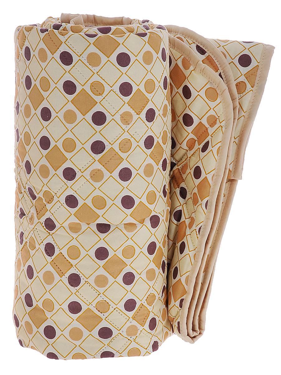 Одеяло Верблюжье, наполнитель: шерсть, вискоза, цвет: бежевый, молочный, коричневый, 172 см х 205 см120719051_круги, ромбыОдеяло Верблюжье порадует вас своим теплом и качеством! Чехол одеяла изготовлен из инновационного материала - биософт с фигурной безниточной стежкой, наполнитель - 40% верблюжья шерсть и 60% вискоза.Биософт - ткань из полиэстеровой нити с плотной и шелковистой на ощупь структурой. Легко стирается, не деформируется, не садится, быстро сохнет и сохраняет цвет на долгое время. Изделия из этой ткани очень легкие.Верблюжья шерсть давно оценена потребителями за исключительные достоинства, присущие только ей:- оздоравливающие свойства - благодаря содержанию ланолина нейтрализует токсины, улучшает микроциркуляцию кожи, расширяет сосуды, усиливает обмен веществ и помогает избавиться от ревматических болей;- воздухопроницаемость - полая структура волоса позволяет воздуху свободно циркулировать внутри изделий;- гипоаллергенность.