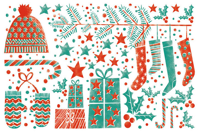 Открытка С Новым Годом и Рождеством!. Автор: Екатерина Горбачева чай шар подарочный с новым годом и рождеством 60гр купаж черн и зел цейло