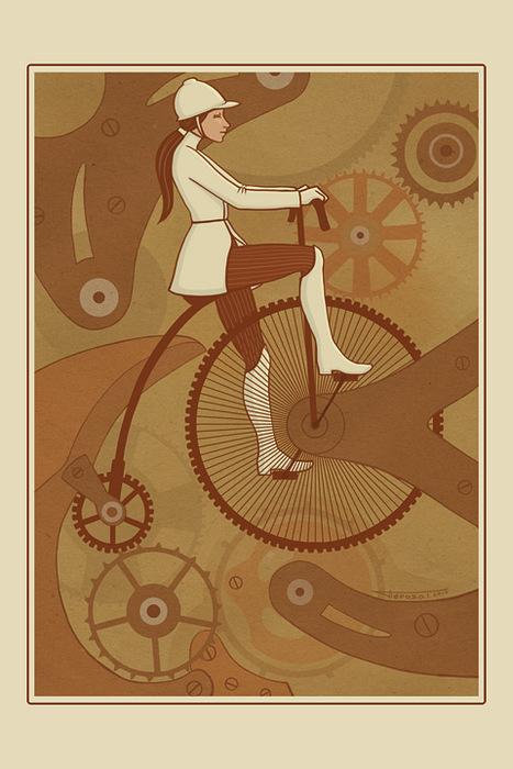 Открытка Велохрон. Автор: Татьяна Перова открытка крокодил автор варя колесникова