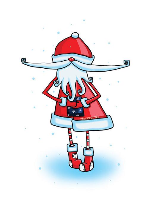 Открытка Дед Мороз днем. Автор: Татьяна ПероваPT10-012Оригинальная дизайнерская открытка Дед Мороз днем выполнена из плотного матового картона. На лицевой стороне расположена репродукция картины художницы Татьяны Перовой с изображением забавного Деда Мороза на белом фоне. На задней стороне имеется поле для записей. Такая открытка станет великолепным дополнением к новогоднему подарку или оригинальным почтовым посланием, которое, несомненно, удивит получателя своим дизайном и подарит приятные воспоминания.