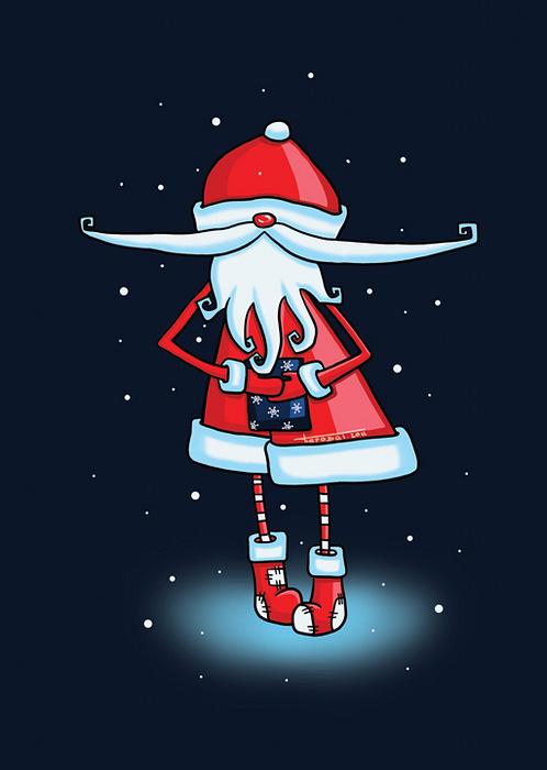 Открытка Дед Мороз ночью. Автор: Татьяна ПероваPT10-013Оригинальная дизайнерская открытка Дед Мороз ночью выполнена из плотного матового картона. На лицевой стороне расположена репродукция картины художницы Татьяны Перовой с изображением забавного Деда Мороза на темно-синем фоне. На задней стороне имеется поле для записей. Такая открытка станет великолепным дополнением к новогоднему подарку или оригинальным почтовым посланием, которое, несомненно, удивит получателя своим дизайном и подарит приятные воспоминания.