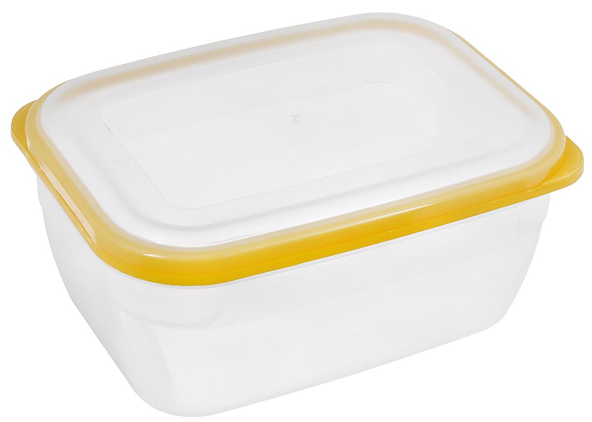 Контейнер для СВЧ Премиум, цвет: желтый, прозрачный, 1,8 лС564_желтыйПищевой контейнер предназначен специально для хранения пищевых продуктов. Крышка легко открывается и плотно закрывается. Устойчив к воздействию масел и жиров, легко моется. Прозрачные стенки позволяют видеть содержимое. Емкость имеет возможность хранения продуктов глубокой заморозки, обладает высокой прочностью. Контейнер необыкновенно удобен: в нем можно брать еду на работу, за город, ребенку в школу. Именно поэтому подобные контейнеры обретают все большую популярность.Размер: 20 см х 14,5 см х 9 см.