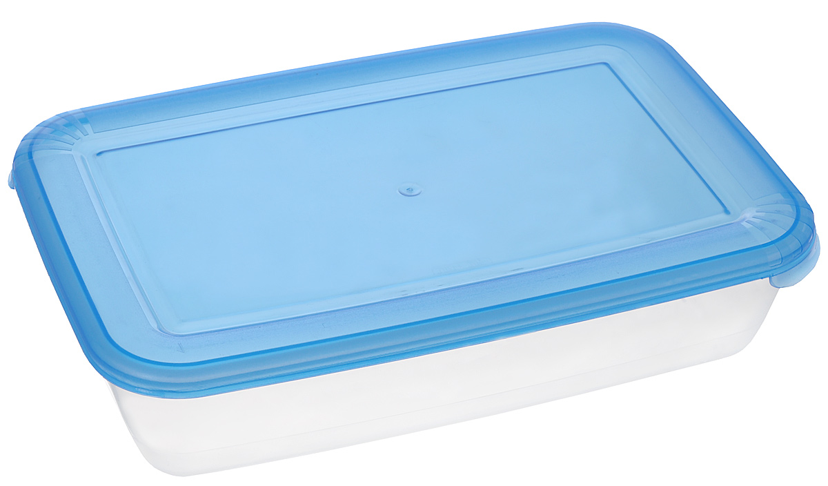 Контейнер для СВЧ Полимербыт Лайт, цвет: синий, прозрачный, 900 млС552_синийПрямоугольный контейнер для СВЧ Полимербыт Лайт изготовлен из высококачественного полипропилена, устойчивого к высоким температурам (до +120°С). Яркая цветная крышка плотно закрывается, дольше сохраняя продукты свежими и вкусными. Контейнер идеально подходит для хранения пищи, его удобно брать с собой на работу, учебу, пикник или просто использовать для хранения пищи в холодильнике.Можно использовать в микроволновой печи и для заморозки в морозильной камере при минимальной температуре -40°С.Можно мыть в посудомоечной машине.