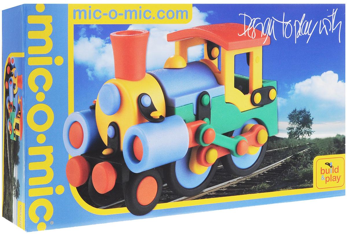 Mic-o-Mic Конструктор Паровозик mic o mic конструктор автомобиль гоночный малый