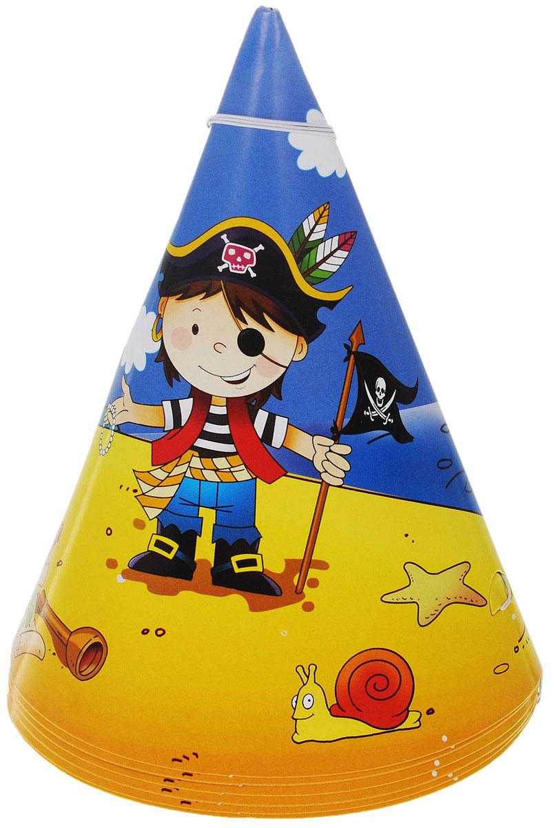 Веселая затея Колпак  Маленький пират , 6 шт -  Колпаки и шляпы