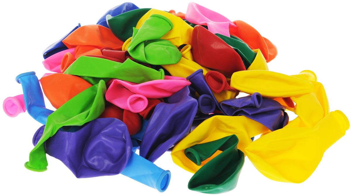 Веселая затея Набор воздушных шаров Пастель, 50 шт disney набор воздушных шаров пастель феи 25 шт 1306917