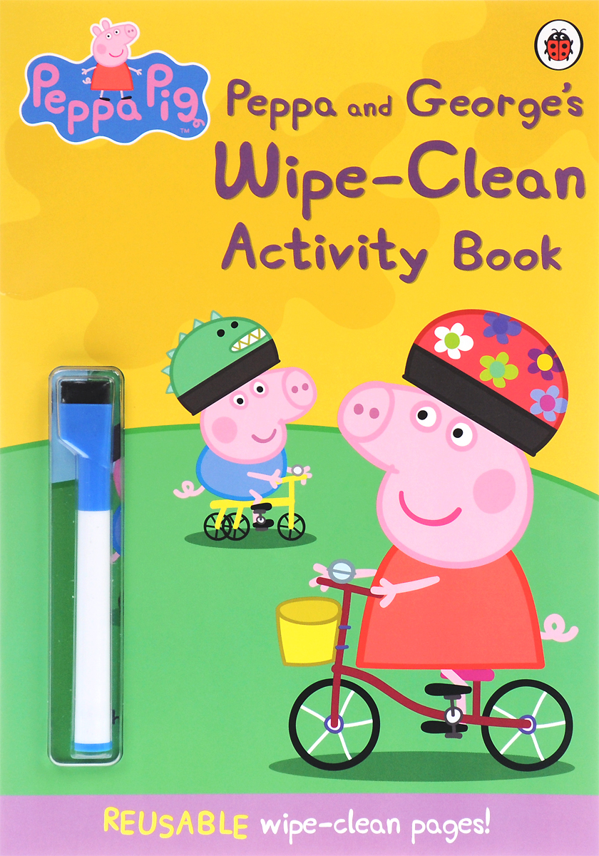 Peppa Pig: Peppa and George's Wipe-Clean Activity Book space activity book