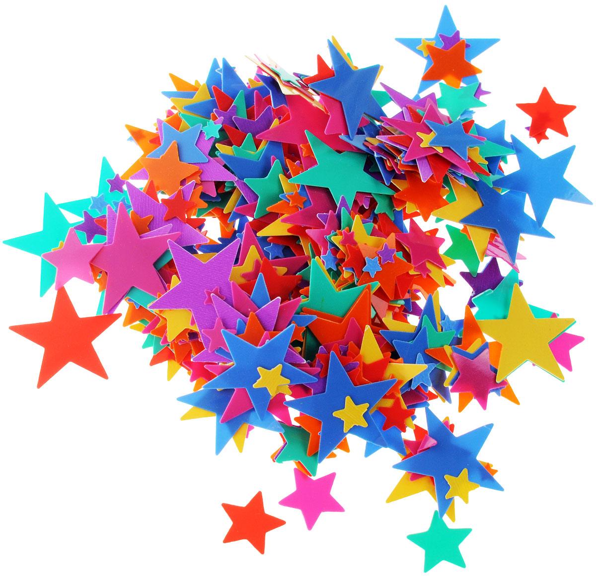 """Конфетти Веселая затея """"Разноцветные звезды"""" - неотъемлемый атрибут праздников, триумфальных шествий, а  также свадебных торжеств. Выполнено из прочного материала в форме разноцветных звездочек.Конфетти  осыпают друг друга участники празднеств или его сбрасывают сверху. Конфетти, рассыпанное на столе, является  необычной и привлекательной формой украшения праздничного застолья. Еще один оригинальный способ  порадовать друзей и близких - насыпьте конфетти в конверт с открыткой - это будет неожиданный сюрприз! Это чудесное украшение принесет в ваш дом или офис незабываемую атмосферу праздничного веселья!"""