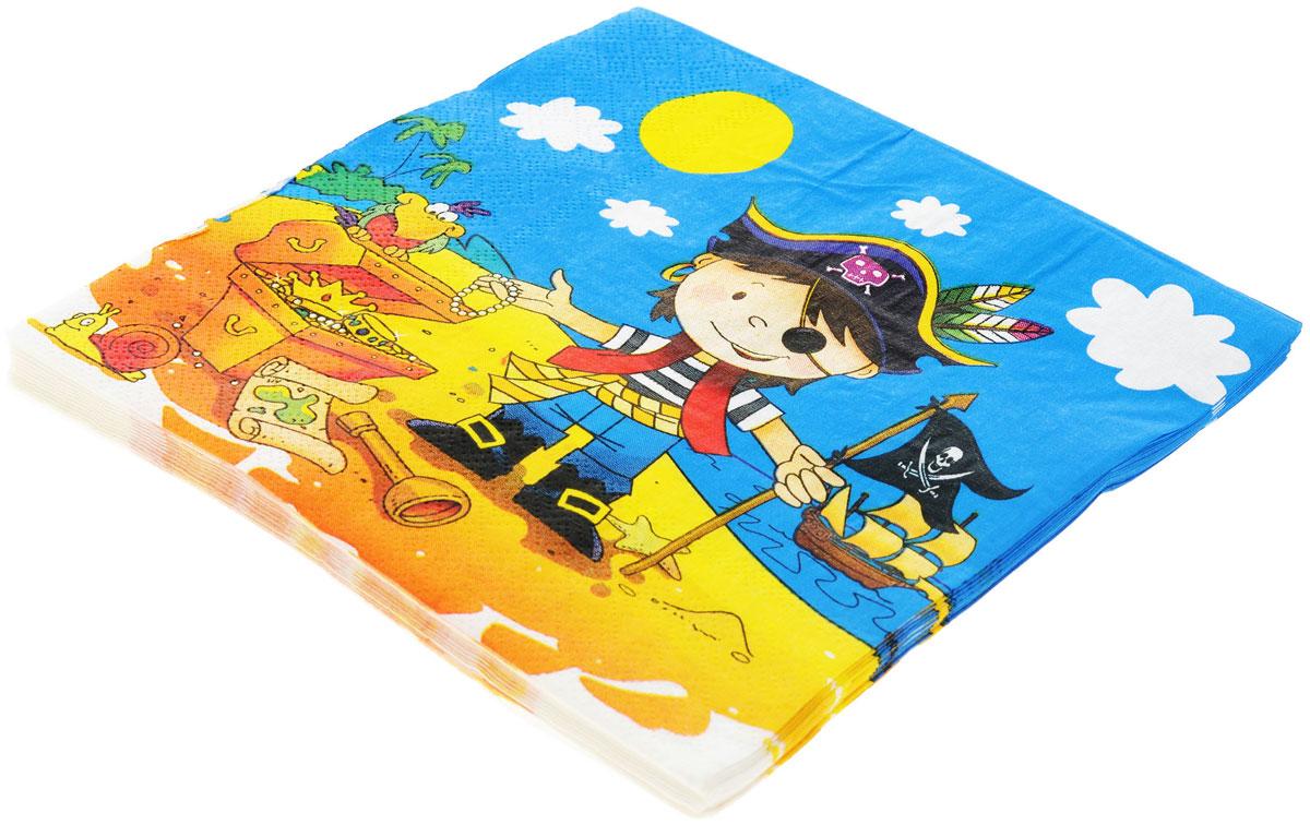 Веселая затея Салфетки Маленький пират, трехслойные, 12 шт