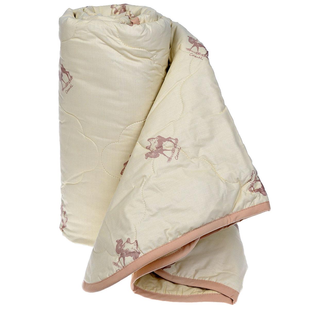 """Одеяло """"Sova & Javoronok"""", наполнитель: верблюжья шерсть, цвет: бежевый, 172 см х 205 см"""