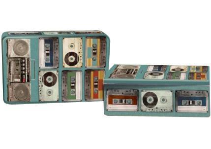 Декоративная шкатулка Аудиокассеты, 17 см х 11 см х 5 см лампа настольная феникс презент белка цвет белый 17 х 12 х 19 см