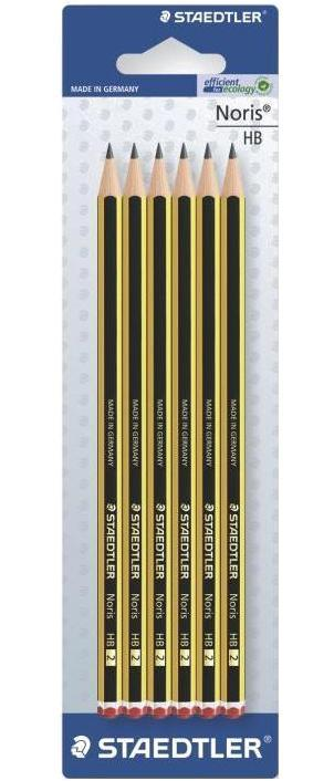 Карандаши чернографитные Noris 120 HB, 6 шт/блистер STAEDTLER staedtler staedtler цветные карандаши noris club class pack 12 цветов