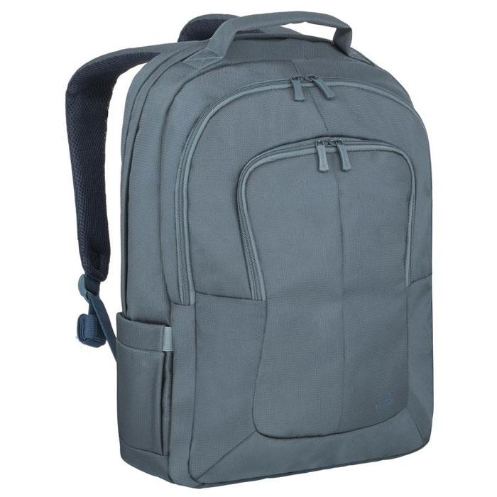 Riva 8460 рюкзак для ноутбука 17, AquamarineRivaCase 8460 aquamarineМногофункциональный рюкзак Riva 8460 для ноутбука до 17.3 идеально подходит для деловых поездок и туристических путешествий. Он изготовлен из плотного синтетического материала и имеет утолщенные стенки для лучшей защиты ноутбука от случайных ударов и царапин, а также от пыли и влаги. Основное отделение для ноутбука с вертикальной загрузкой имеет мягкие стенки и ремень для надежной фиксации ноутбука до 17. Просторная секция на молнии предназначена для хранения книг и документов. В дополнительное внутреннее отделение вы можете положить планшет до 10.1. Два внешних передних кармана на молнии служат для хранения аксессуаров, зарядного устройства и визитных карт, авторучек, смартфона. Двойная застежка молния обеспечивает удобный доступ к устройству. Мягкая ручка для переноски и наплечные ремни со смягчающими подкладками помогут чувствовать себя комфортно в самом долгом путешествии. Сетчатый материал задней стенки рюкзака обеспечивает циркуляцию воздуха для максимального комфорта вашей спины. На задней стенке имеется ремень крепления к багажной сумке и скрытый карман на молнии для паспорта, бумажника. В два боковых кармана вы можете поместить емкости с водой.
