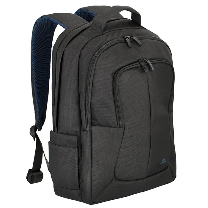 Riva 8460 рюкзак для ноутбука 17, BlackRivaCase 8460 blackМногофункциональный рюкзак Riva 8460 для ноутбука до 17.3 идеально подходит для деловых поездок и туристических путешествий. Он изготовлен из плотного синтетического материала и имеет утолщенные стенки для лучшей защиты ноутбука от случайных ударов и царапин, а также от пыли и влаги. Основное отделение для ноутбука с вертикальной загрузкой имеет мягкие стенки и ремень для надежной фиксации ноутбука до 17. Просторная секция на молнии предназначена для хранения книг и документов. В дополнительное внутреннее отделение вы можете положить планшет до 10.1. Два внешних передних кармана на молнии служат для хранения аксессуаров, зарядного устройства и визитных карт, авторучек, смартфона. Двойная застежка молния обеспечивает удобный доступ к устройству. Мягкая ручка для переноски и наплечные ремни со смягчающими подкладками помогут чувствовать себя комфортно в самом долгом путешествии. Сетчатый материал задней стенки рюкзака обеспечивает циркуляцию воздуха для максимального комфорта вашей спины. На задней стенке имеется ремень крепления к багажной сумке и скрытый карман на молнии для паспорта, бумажника. В два боковых кармана вы можете поместить емкости с водой.