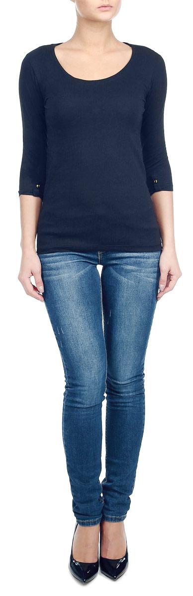 Лонгслив женский Moodo, цвет: синий. Z-TL-1806 NAVY. Размер L (48) moodo перчатки