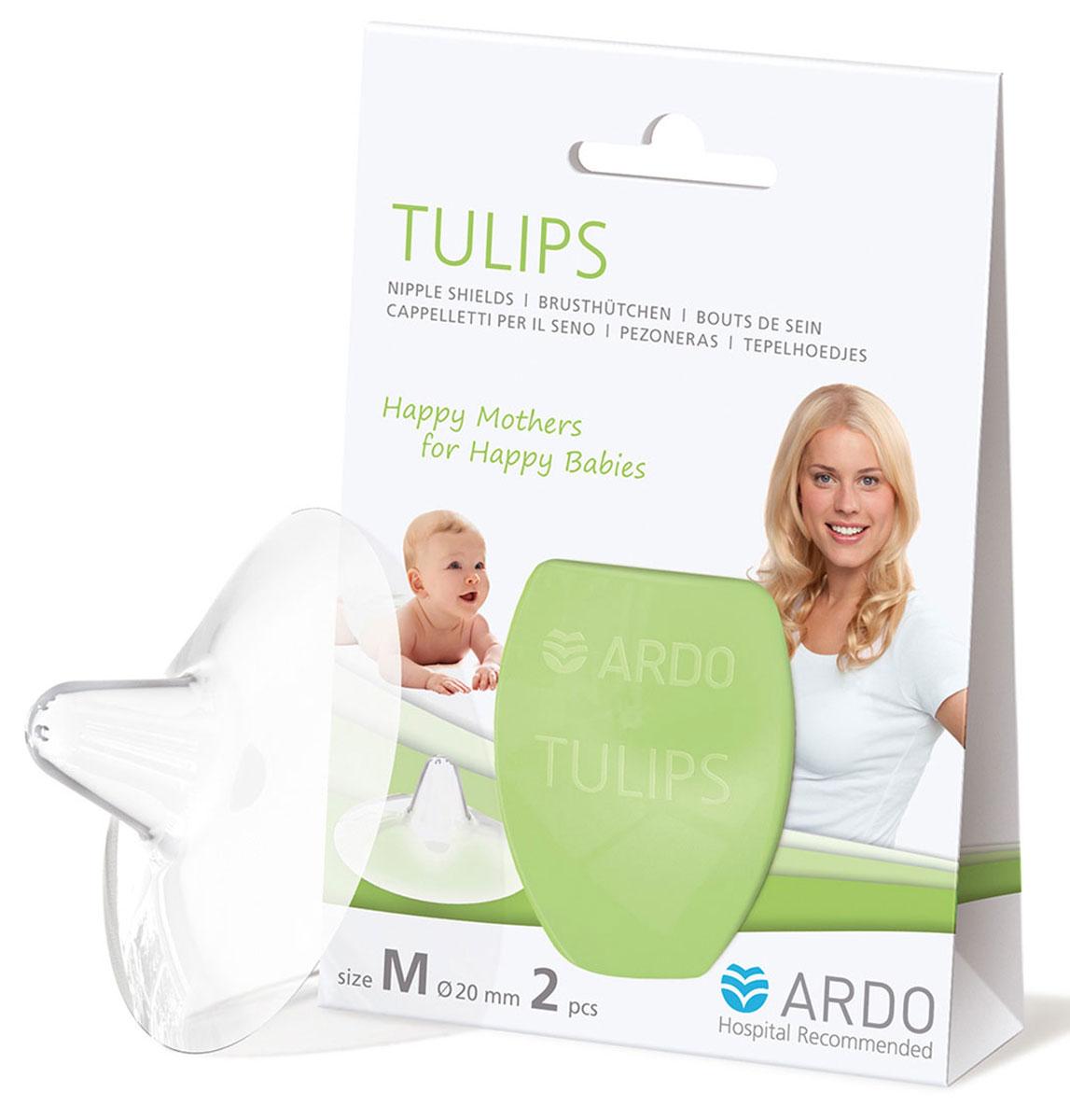 """Силиконовые накладки на грудь """"Tulips"""". Размер М, Ardo Medical"""