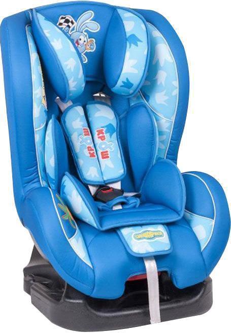 Автокресло Автопрофи / Autoprofi Автокресло Autoprofi Смешарики: Крош, цвет: синий, голубой, 0-18 кгSM/DK-200 KroshАвтокресло по мере взросления ребенка можно крепить через одни направляющие как против движения (с 0 до 10 кг), так и по ходу него (с 9 до 18 кг). Варианты расцветок позволяют подобрать модель в зависимости от пола ребенка или выбрать автокресло с одним из любимых персонажей: Крошем, Пином, Нюшей, Ёжиком. Чтобы не испортить автомобильное сиденье, рекомендуем использовать накидку под детское автокресло Смешарики.Сертификат соответствия: ГОСТ 41.44-2005 (ECE R44/04)
