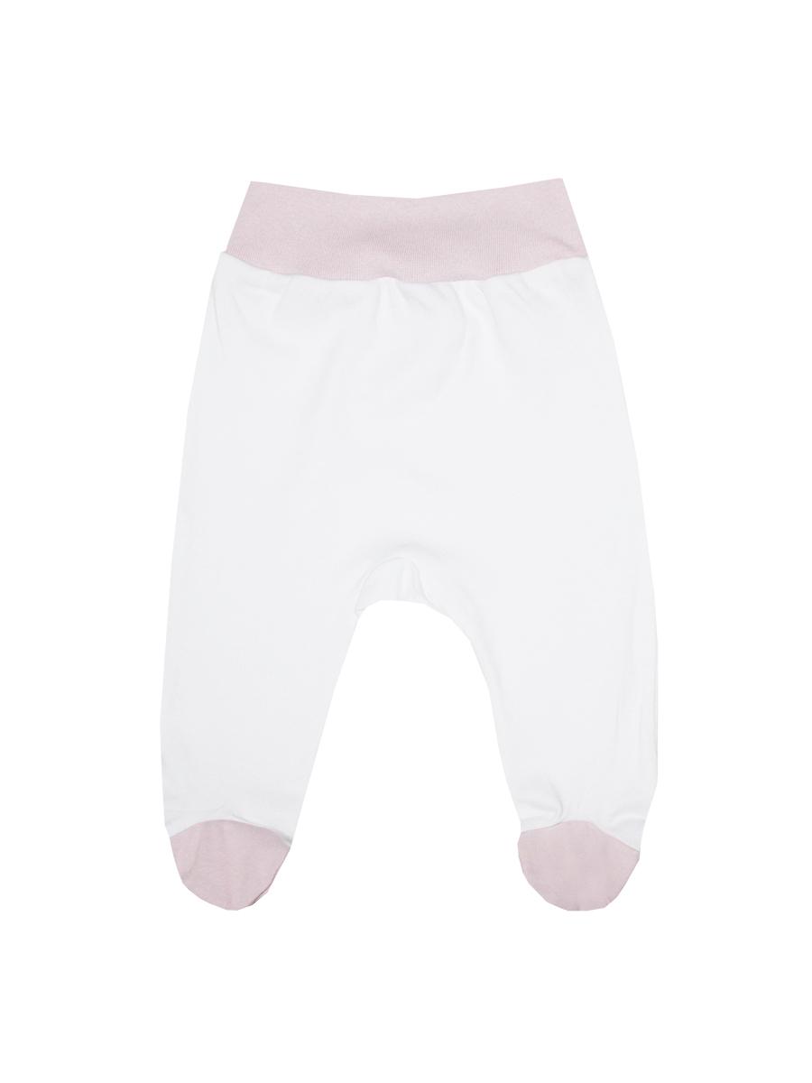 Ползунки на широком поясе КотМарКот, цвет: белый, розовый. 3574. Размер 80, 9-12 месяцев ползунки трикотажные на 0 9 месяцев