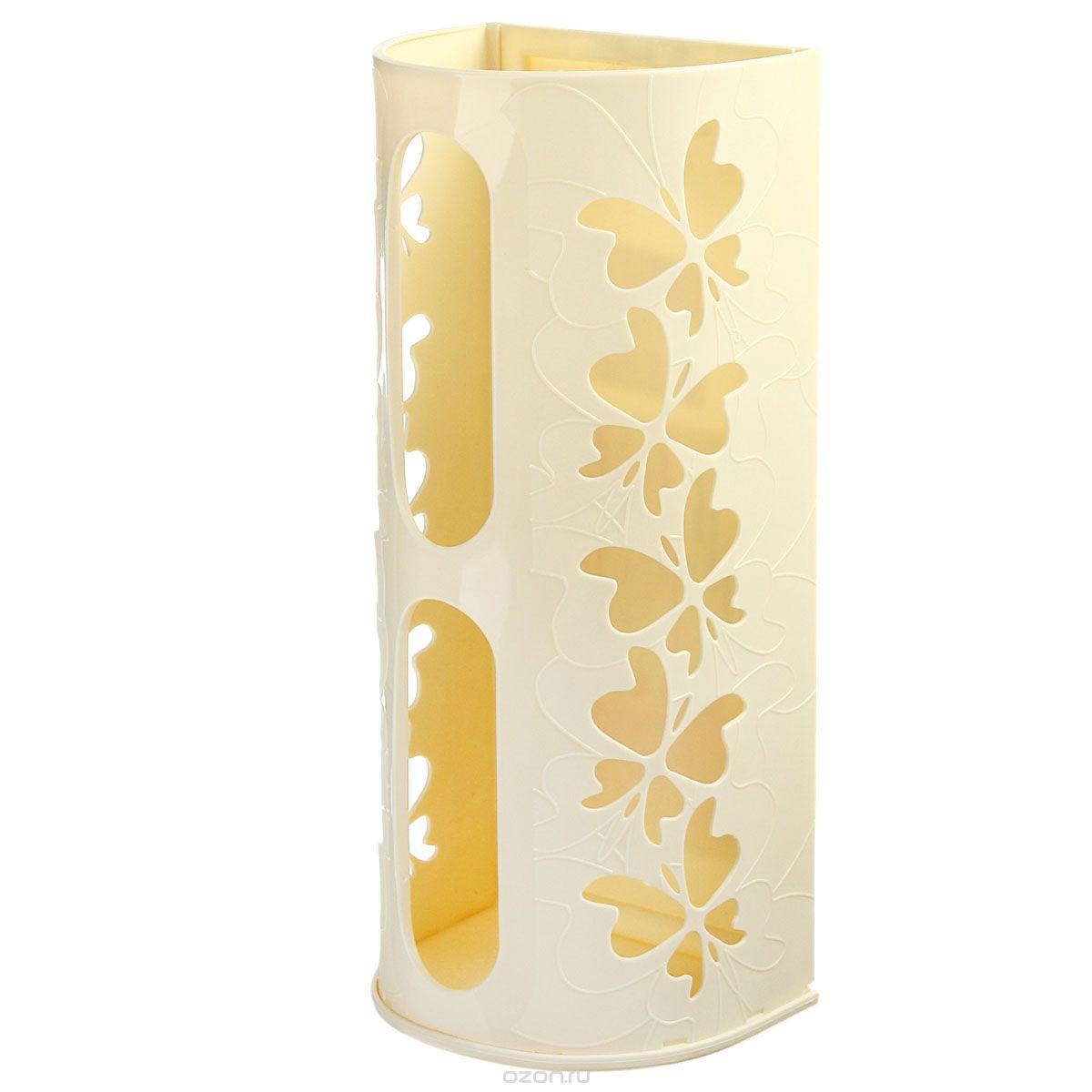 Корзина для пакетов Berossi Fly, цвет: слоновая кость, 16 х 13 х 37,5 смИК10333000Корзина Berossi Fly выполнена из пластика и предназначена для хранения пакетов. Изделие декорировано перфорацией в виде бабочек и крепится к стене при помощи трех саморезов (входят в комплект). Корзина легко собирается и разбирается. Имеет два отверстия, из которых удобно вынимать пакеты.Корзина Berossi Fly позволяет хранить пакеты в одном месте. Размер корзины (в собранном виде): 16 см х 13 см х 37,5 см.