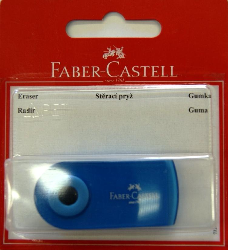 Faber-Castell Ластик Sleeve цвет синий 263396263396Ластик Sleeve Faber-Castell станет незаменимым аксессуаром на рабочем столе не только школьника или студента, но и офисного работника.Не оставляет грязных разводов. Кроме того высококачественный ластик не содержит ПВХ. Не повреждает бумагу даже при многократном стирании. Специальный удобный пластиковый футляр позволит защитить ластик от повреждений.