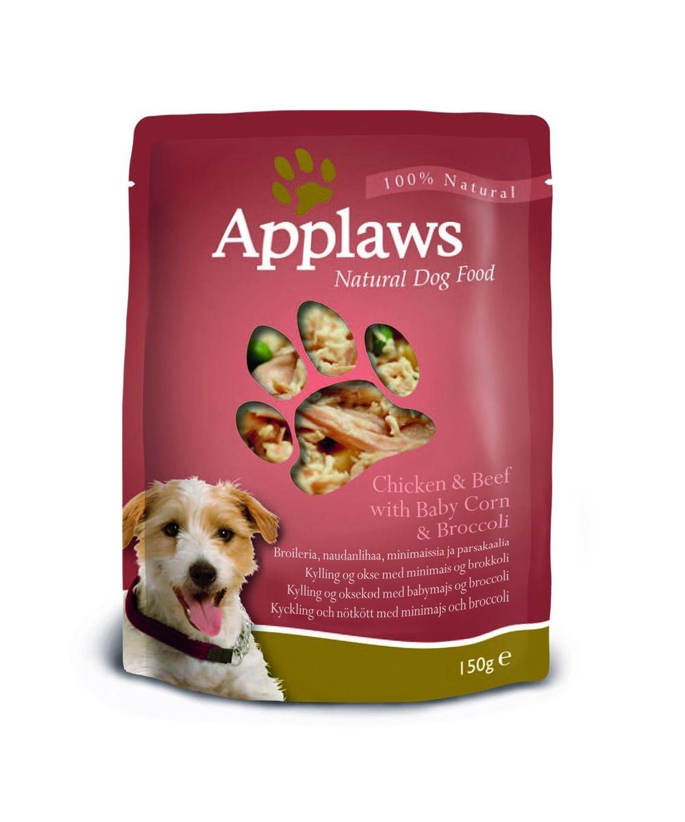 Консервы для собак Applaws, с курицей, говядиной и овощным ассорти, 150 г10289Каждая упаковка Applaws содержит порцию свежего мяса, приготовленного в собственном бульоне с лакомыми добавками. Не содержит ГМО, синтетических консервантов или красителей. Не содержит вкусовых добавок.Состав: филе цыпленка 45%, куриный бульон 24%, говядина 15%, кукуруза 8%, брокколи 7%, рис 1%.Анализ: белок 19%, жиры 0,85%, зола 0,34%, клетчатка 0,2%, влага 78%.Товар сертифицирован.