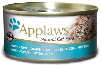 Консервы Applaws, для котят, с тунцом, 70 г24326Каждая баночка Applaws содержит порцию свежего мяса, приготовленного в собственном бульоне. Для приготовления любого типа консервов используется мясо животных свободного выгула, выращенных на фермах Англии. В состав каждого рецепта входит только три/четыре основных ингредиента и ничего более. Не содержит ГМО, синтетических консервантов или красителей. Не содержит вкусовых добавок.Состав: кусочки филе тунца 40%, рыбный бульон, растительный желатин.Анализ: белок 13,5%, клетчатка 0,2%, жиры 0,5%, зола 1,6%, влага 82%.Товар сертифицирован.
