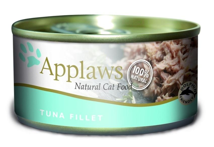 Консервы Applaws, для кошек, с филе тунца, 70 г консервы для кошек petreet natura с кусочками розового тунца и морковью 70 г 6 шт
