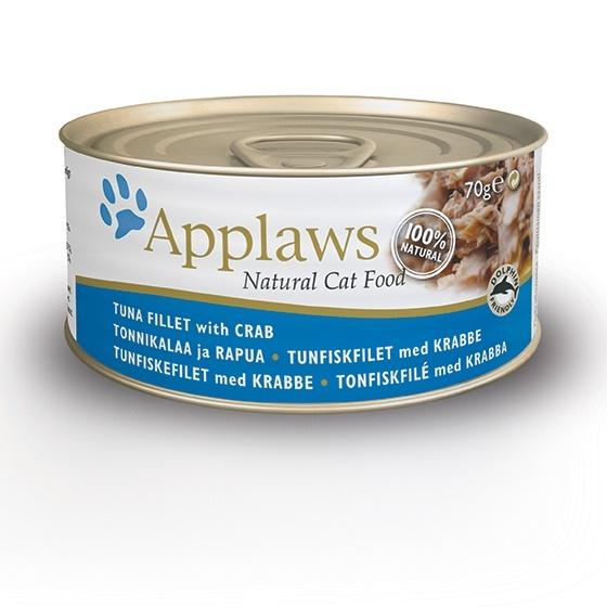 Консервы для кошек Applaws, с тунцом и крабовым мясом, 70 г24339Консервы Applaws с тунцом и крабовым мясом специально разработаны для кошек и учитывает все их нужды. Консервы изготовлены из свежего мяса, приготовленного в собственном бульоне. В состав каждого рецепта входит только три/четыре основных ингредиента и ничего более. Не содержит ГМО, синтетических консервантов или красителей. Не содержит вкусовых добавок. Состав: филе тунца 70%, рыбный бульон, мясо краба 5%, рис. Гарантированный анализ: белок 15%, клетчатка 1%, жиры 0,1%, зола 3%, влага 80%. Товар сертифицирован.